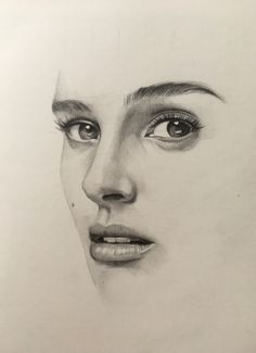 Natalie Portman pencil drawing by @zahn_k