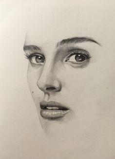 Natalie Portman pencil drawing by @zahn_k
