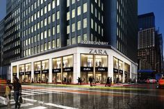 Zara to open shop in Financial District Mall Facade, Retail Facade, High Street Stores, Street Mall, Walmart, Phoenix Homes, Commercial Street, Luxury Store, New York Post
