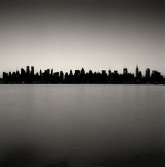Manhattan skyline * Michael Kenna...would make a good ink drawing to practice cityscapes