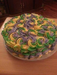 My Mardi Gras cake-