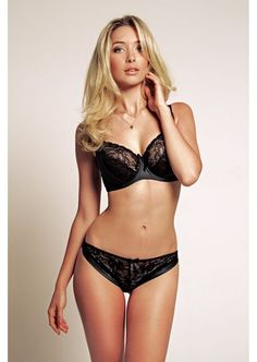 Miss Mandalay Amelie Black Lace Brief - RRP £28.00 New AW14 Large Bras e07631512