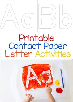 Are your kids learning at home? This printable contact paper alphabet letter activity is perfect for toddlers and preschool aged kids who are learning about their letters. Add this to your homeschool letter themed weekly activities for some painting fun! Educational Activities For Toddlers, Painting Activities, Printable Activities For Kids, Alphabet Activities, Language Activities, Literacy Activities, Free Printables, Preschool Literacy, Early Literacy