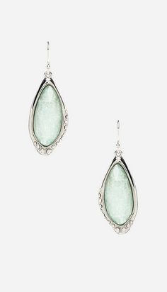 Just bought these Alexis Bittar Liquid Infinity Drop Amazonite Earrings, they're gorgeous!