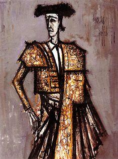 Bernard Buffet (Paris 1928-Tourtour 1999), Toreador, 1958. Oil on canvas,