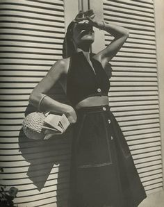 Harper's Bazaar, 1944 - Photo by Louise Dalh Wolfe Love the purse!