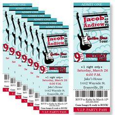 Ticket style invite