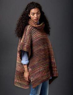 Cozy Tweed Crochet Poncho