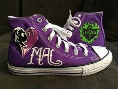 Mal Descendants Shoes - Etsy shop https://www.etsy.com/listing/261185691/descendants-converse-shoes-mal
