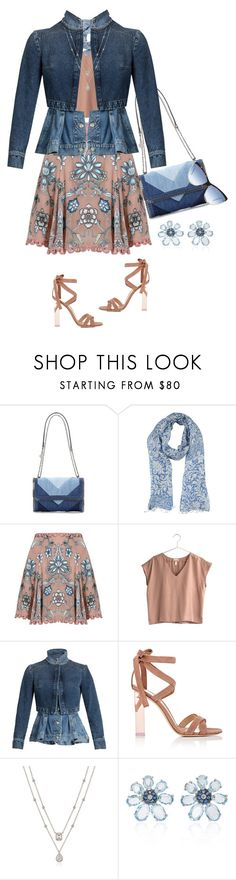 """""""DENIM JACKET WITH A FLAIR"""" by melange-art ❤ liked on Polyvore featuring STELLA McCARTNEY, Épice, For Love & Lemons, Alexander McQueen, Gianvito Rossi and Victoria Beckham"""