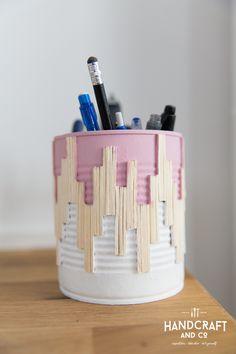 """Pot à crayons """"conserve tes conserves"""""""