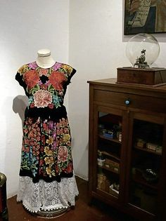 Frida Kahlo, dress at Casa Azul. She pretty much wrote the book on what to wear