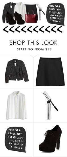 """Office Wear"" by lululafitte on Polyvore featuring moda, H&M, STELLA McCARTNEY, Chicwish, Bobbi Brown Cosmetics, New Look y Meli Melo"