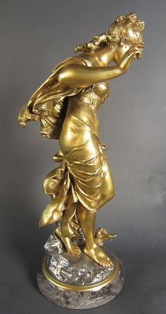 Buy online, view images and see past prices for Auguste Moreau, French - Invaluable is the world's largest marketplace for art, antiques, and collectibles. Iron Decor, Antique Auctions, Bronze Sculpture, View Image, Antique Gold, Wood Art, Sculpting, Decorative Boxes, October