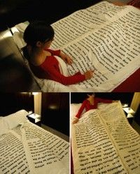 great idea for printing bed sheets!
