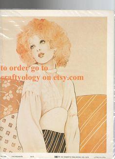 1970's Redhead Print  Great Make up and Hair   $25.00