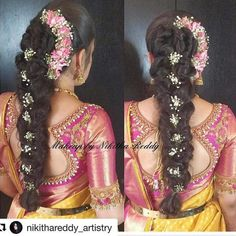 Improve makeup with these wedding makeup tips Pic# 7140 Indian Wedding Hairstyles, Ethnic Hairstyles, Bride Hairstyles, Hairstyles Haircuts, Hairstyle Wedding, Hairdos, Trendy Hairstyles, Bridal Braids, Bridal Hairdo
