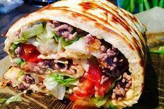 Low-Carb Big Mac Rolle