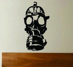 Gasmask Decal Sticker Wall Art Graphic