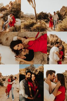 This engagement shoot at Joshua Tree National Park was warm carefree playful and got me so inspired Danielle and Jimmy were more gorgeous than the park