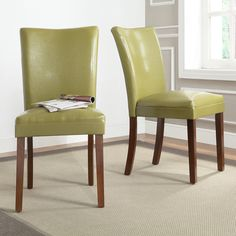 TRIBECCA HOME Estonia Olive Green Upholstered Dining - Overstock Shopping - Great Deals on Tribecca Home Dining Chairs