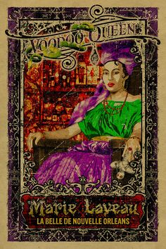 New Orleans Voodoo Queen Marie Laveau. 12x18. by UncleGertrudes, $22.00