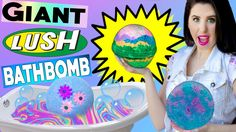 DIY GIANT Lush Bath Bomb! | How To Make The BIGGEST RAINBOW Bath Bomb In...