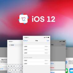 Kickstart your next Studio prototype with the iOS UI Kit for InVision Studio - Free InVision Studio UX & UI Kit Templates on FreeDune Ios Ui, Inside Design, Ui Kit, Templates, Studio, Stencils, Vorlage, Studios, Models