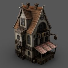 Pirates: Cartographer's house by Dmytro Doskoch, via Behance