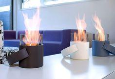 10 Portable Fireplaces for Petite Places via Brit + Co.