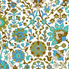 Serpentine 912a fabric by muhlenkott on Spoonflower - custom fabric.  Love the colors!