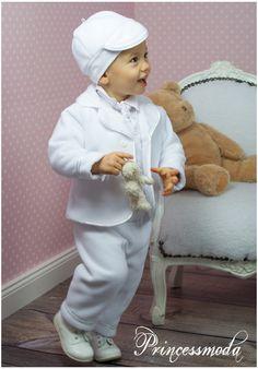 ELIAS - Sehr warmer Taufanzug in weiß für die Wintertaufe - Princessmoda - Alles für Taufe Kommunion und festliche Anlässe