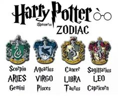 Harry Potter Houses as Zodiac Signs