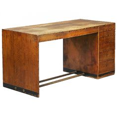 1940s Early desk by cabinetmaker Jacob Kjaer of highly figured Birch, brass and black lacquered base