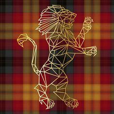 Celebrate your house with this geometric Gryffindor Lion. Comes in 4 great colors: - Black - White - Gold - Red