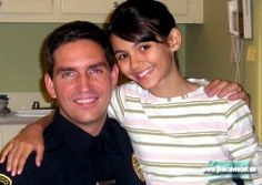 "Jim with the actress who played his daughter in ""Unknown""."