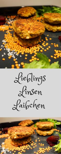 Linsen Bratlinge Lentil patties - as a main course with bread dumplings or nice with salad Lacto Vegetarian Diet, Vegetarian Recipes Lentils, Veggie Recipes, Healthy Recipes, Lentil Recipes, Empanadas, Lentil Patty, Bread Dumplings, Easy Bread Recipes