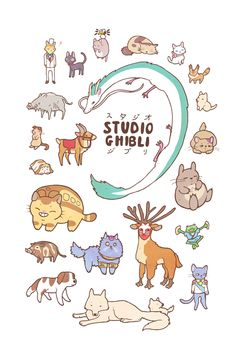 "stephhodges: ""NEW Animals of Studio Ghibli design available here. """