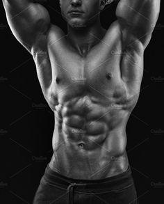 Male bodybuilder  by Usmanov Stock Photography on @creativemarket