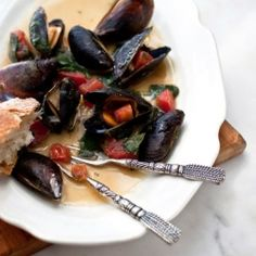 Roasted Mussels with white wine
