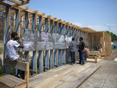 Strategies and Tactics_interactive community wall transforms fence | chat travieso
