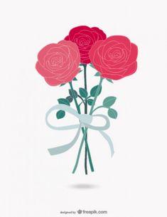 Roses bouquet vector