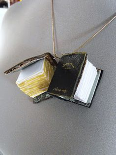 ❥ Easy tutorial for making these cute little book charms