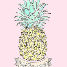 vintage pineapple illustration - Google Search