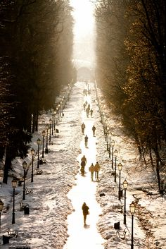 Walking the snowy paths in Zagreb, Croatia. Enjoyable Croatia  http://www.travelandtransitions.com/destinations/destination-advice/europe/