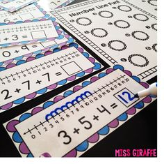 Adding 3 Numbers centers and worksheets that are a lot of fun (lots of great ideas on this blog post!)