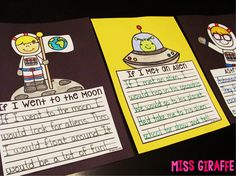 Writing Crafts that are NO PREP... seriously! Here are some of the space writing crafts! Astronauts, If I Went to the Moon, If I Met an Alien, etc. - make writing fun!