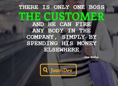#CustomerSatisfaction  Do you agree that your customer is everything for your business.! He has the power to terminate any business if he is not satisfied. Comment your opinions.!! #SocialMedia #HappyThursday #JoomDev