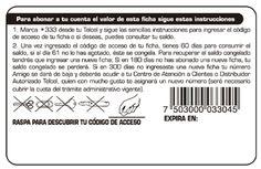 Telcel | Tarjeta telefónica. 1 tinta reverso + código de barras