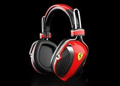 Ferrari by Logic3 red Scuderia P200 headphone